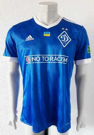 Dynamo Kyiv Kiev match shirt 17/18, worn and signed by Mykyta Burda, made by Adidas