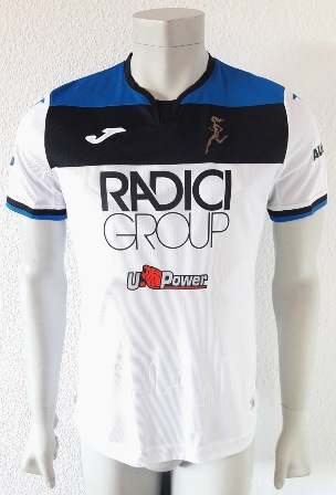 Atalanta match worn shirt, by ukrainian Ruslan Malinovskyi